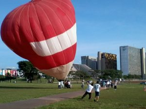 Ballon in Brasilia vor dem Start