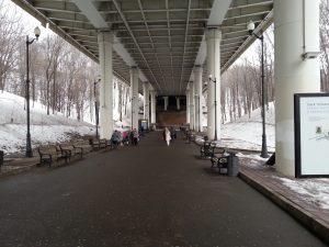 Sperlingsberge Moskau: Park unter der Brücke
