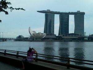 Marina Bay Sands in Singapur - ausgebuchtes Fünf Sterne Hotel
