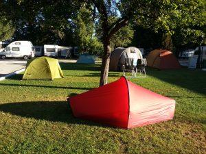 Campingplatz und Zeltplatz: Campen und zelten in einer Großstadt
