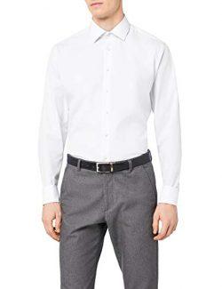 Seidensticker Herren Businesshemd Comfort Langarm mit Kent-Kragen B/ügelfrei Uni