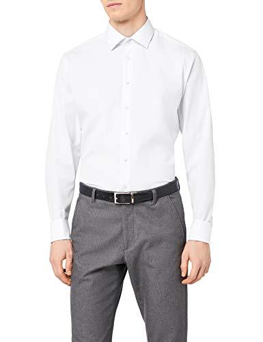 info for 40d0f 12860 Seidensticker Herren Business Hemd Slim Fit - Bügelfreies, schmales Hemd  mit Kent-Kragen - Langarm - 100% Baumwolle